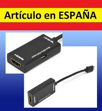 ADAPTADOR MHL HDMI CABLE mini de micro USB a Samsung Galaxy LG movil smartphone
