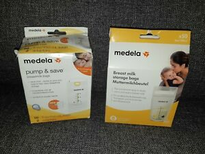 80 Medela Breast Milk Breastmilk Storage Bags Pump & Save PLUS 3x QuickCleanBags