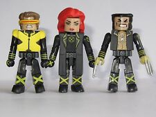 Marvel univers Minimates x-men Toy Figure Set (Jean Grey, Cyclope & Wolverine)