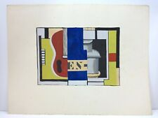Fernand LEGER (d'après) (1881 - 1955)  L'encrier - 1933  Pochoir en couleurs.