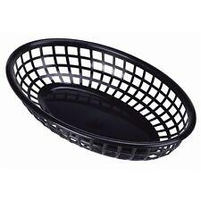 Fast Food Basket Black 23.5 x 15.4cm Serving Dish Bowl Sauce Side Cafe Pot x 6