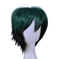 Parrucca cosplay parrucca carnevale verde breve parrucca carnevale di Halloween