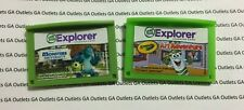 Lot of 2 Leap Frog Explorer Games Only Monsters University Crayola Art Adventure