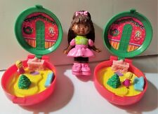 McDONALDS '93 HOLIDAY GIRLS TOY, POLLY POCKETS,1 SALLY SECRETS  SHOES HOLE PUNCH