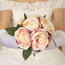Elegant Artificial Peony Bouquet de mariée en marbrerie Bouquet de mariage