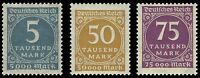 EBS Germany 1923 Inflation Number in Circle set (II) Michel No. 274-276 MNH**