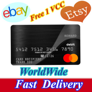 Fast Delivery 🔥 2 Fresh Etsy VCC Ebay VCC For 🔥Worldwide Seller Verification🔥