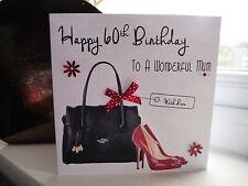Handmade Personalised Female Handbag Bag Shoes Birthday Card 40th 50th 60th