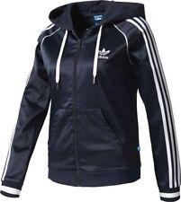 MEDIUM  adidas Women's  Slim Fit  FZ HOODIE Track Top Jacket BJ8328 BLUE LAST1