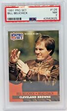 1991 Pro Set #126 Bill Belichick PSA 7 Browns Patriots HOF Rookie
