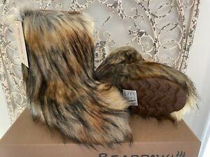 BEARPAW  | Women's Size 6 US Hickory II Faux Fur Sasha Fall Winter Boots Shoes