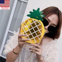 US Women Pineapple Shape Shoulder Bag Messenger Crossbody Handbag Tote Purse Bag