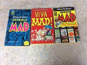 MAD PAPERBACKS: UTTERLY, VIVA,INSIDE, LOT OF 3 55-68