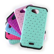 For Kyocera Hydro Air / Hydro Wave Case - Diamond Bling Hybrid Tough Phone Cover