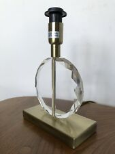 Bhs Faceted Cut Glass Table Lamp Antique Brass Base