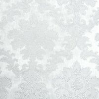 White textured Victorian damask Wallpaper faux silk fabric texture wallcoverings