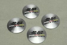 4Pcs Mugen Power Aluminum Alloy Vip Car Wheel Center Hub Caps Stickers Emblems