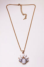LOVELY GORGEOUS CHAIN NECKLACE WHITE FLOWER JEWEL PENDANT UNIQUE GIFT (CL21)