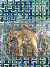 VTG BRASS ELEPHANT TRUNK DOWN KEYCHAIN  NEW IN PACKAGE