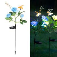 Solar Rose LED Lampe Simulation Blume Biene Rose Landschaft Lampe Dekoration