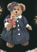 "STARS & STRIPES Bearington Bear 14"" $29.99 New 2004 Collectible Series w/tags"