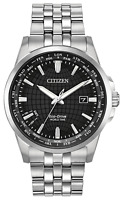 Citizen World Time Eco-Drive Watch BX1000-57E Black Dial Brand New WithTags
