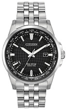 Citizen World Time Eco-Drive Watch BX1000-57E Black Dial Brand New No Tags