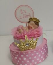 PRINCESS CROWN GIRL BABY SHOWER CAKE TOPPER CENTERPIECE  DECORATION