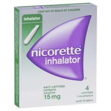 * NICORETTE INHALATOR 4 CARTRIDGES & 1 MOUTHPEICE NICOTINE 15MG SMOKE DETERRENT