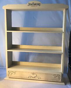 "Jim Shore Heartwood Creek ~ White Mini Animal Display Shelf 17"" - IN BOX"