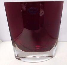"""Badash Handmade 8"""" Red Crystal Vase Signed By Jack Badash    No Chips/No Cracks"""