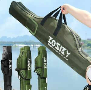 Portable Fishing Rod Carrier Fish Pole Tools Storage Tactical Gun Bag Rod Case