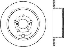 Disc Brake Rotor-Sport Slotted Brake Disc Rear Right Stoptech 126.47033SR