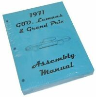 1971 Pontiac GTO Lemans Judge Factory Assembly Manual Book High Res Quality
