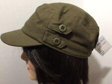 DO GREE FASHIONS Unisex Dark Green Khaki Cadet Painters Cap Hat NWT