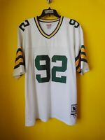 GREEN BAY PACKERS #92 REGGIE WHITE VTG MITCHELL & NESS THROWBACK JERSEY MENS- 58