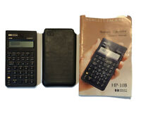 HEWLETT-PACKARD VINTAGE 1989 HP-10B Business Calculator With Manual & Case Used