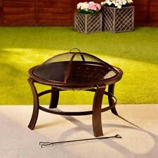 Fire Basket Spark Protection Grille 76 x 56 cm Bronze Fireplace Fireplace Grill Patio