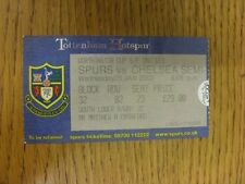 23/01/2002 Ticket: Football League Cup Semi-Final, Tottenham Hotspur v Chelsea