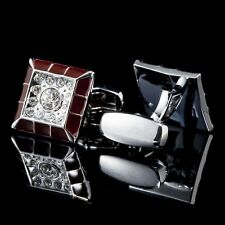 1 Pair Classic Mens Wedding Party Gift Shirt Crystal Cufflinks Cuff Links A11