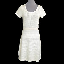 Sparrow Anthropologie Lovely Ivory & Gold Sweater Dress size Medium