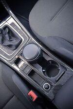 VW Golf MK7 MK7.5 Center Console Cup Holder Trim Carbon Fiber Effect for LHD Car