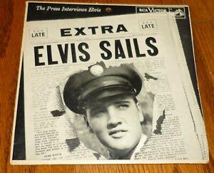 Elvis Presley Sails Extended Play record sleeve, RCA EPA-4325 1959 Calendar back