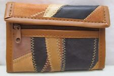 Vintage NOS English Patch Leather Wallet with Zippered Coin Purse NEW Brown