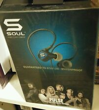 Brand New SOUL Pulse Reverse Fit Headphones with Microphone Wired (Blue)
