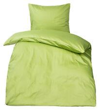 Premium Mako Satin Bettwäsche uni MOON 100% Baumwolle Bettdecken / Kissen Bezug