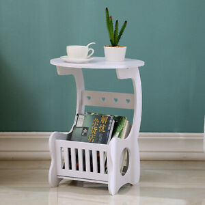 DIY Tea Coffee Table Side Desk Tray Furniture Decor Book Plant Shelf Storage
