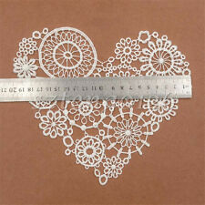 Heart Flower Patch Lace Collar Embroidery Applique Lace Triming Sewing Supplies