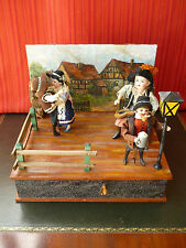 1910's Zinner & Sohne Tin Mixed Material Automaton Wind-up Music Box Automata