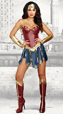 Wonder Woman FANTASY HERO Small Adult COSTUME NWT Dreamgirl with Accessories!